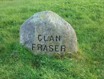 Clan Fraser memorial stone on Culloden battlefield