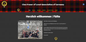 Webseite der Clan Fraser of Lovat Association of Germany