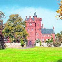 Picture/Ken Macpherson, Inverness. GV showing huge lawns in front of Anne Goag's Beaufort Castle.